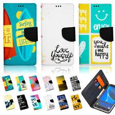 Handy Tasche für Motorola Lenovo Flip Cover Schutz Hülle Etui Wallet SPRÜCHE