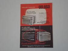 advertising Pubblicità 1963 GELOSO TV-SONIC/RADIO-EXPL.