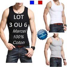 MARCEL HOMME DEBARDEUR  TEE ShIRT LOT 3 ou 6 POLO 100 % COTON QUALITE 4*