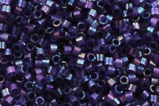 Miyuki Delica 11/0 Silk Inside Dyed Dark Orchid AB 1,6mm DB1881 Zylinderperlen