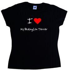 I Love Heart My Bedlington Terrier Ladies T-Shirt