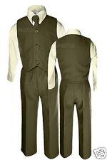 Olive Green Vest Suit Set Formal Infant Toddler Boy Wedding 12M 18M 24M 2T 3T 4T