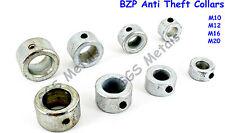 1 Pair x BZP Anti Theft Collars M10 M12 M16 M20 -  Gates Railings Hinges Welding