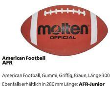 Molten American Football AFR/AFR JR Senior und Junior Größe braun, Griffig Gummi