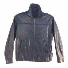 0842RM Excelled, Vintage, Men Zip up, Genuine Lambskin Leather Short Jacket, Blk