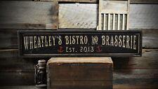 Custom Bistro & Brasserie Sign - Rustic Hand Made Vintage Wooden ENS1000686