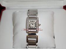 Cartier Tankissime Medium Ladies Diamond Tank 18kt White Gold RARE WE70039H