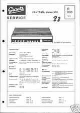 Graetz Original Service Manual für Fantasia stereo 302