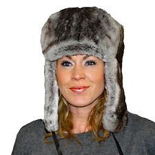 419c10c24cd68 Glacier Wear Chinchilla Rex Rabbit Fur Russian Trooper Hat hts1042