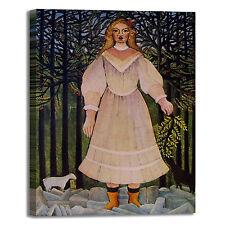 Rousseau ragazza con capre design quadro stampa tela dipinto telaio arredo casa