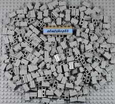 LEGO - 1x2 Masonry Bricks Light Bluish Gray Bulk Lot (98283) Castle Wall Blocks