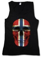 Classic Norway Skull Flag donna Tank Top Bandiera Banner Bandiera Norvegia