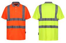 Traega TPS01 Hi Vis Visibility Safety Workwear Short Sleeve Polo