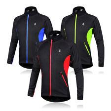 Winter Mens Cycling Jackets Fleece Thermal Windproof Long Sleeve Jersey Coats US