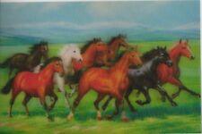3 -D- Magnet: galoppierende Pferde in einer Landschaft