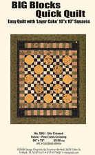 Big Blocks Quick Quilt Star Crossed Quilting Pattern Pack