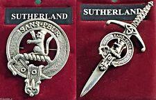 Sutherland Scottish Clan Crest Pewter Badge or Kilt Pin
