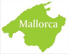 Aufkleber Mallorca, aus hochwertiger Folie geschnitten, Vollfarbig.