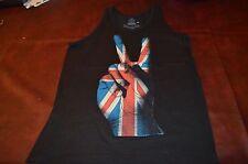 PEACE SIGN TANK  Black Tank Shirt NEW!!  LA Fashion NEW  Rolling Stones Medium