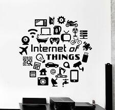 Vinyl Wall Decal Internet of Things Hi Tech IT Geek Stickers Murals (ig4776)
