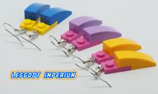 LEGO Dangle Brick Earrings - Yellow Blue Pink Purple 2-Tone - FREE POST