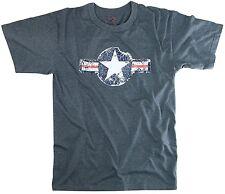 Vintage Army Air Corp Retro Blue T-Shirt Tee Shirt S-3XL