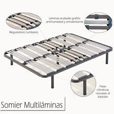 Somier Somieres multiláminas con regulador lumbar,tubo 40x30. Varias medidas