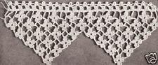 Vintage Antique Crochet PATTERN to make Violet Flower Edging Pillowcase Towel Vi
