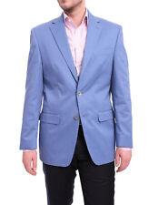 Ralph Lauren Classic Fit Light Blue Two Button Cotton Blazer Sportcoat