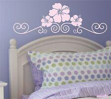WANDTATTOO Hibiskusblütentraum - Blüten Ranke Wandaufkleber Wandsticker