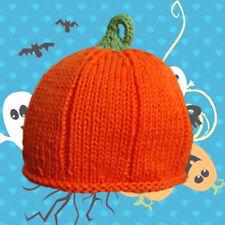 Pumpkin Halloween Hat : Hand Knit : Infant, Toddler 3-12Mo 12-24 Mo NWT