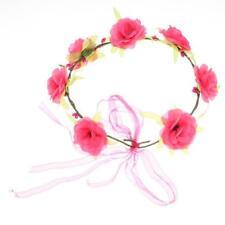 Bridesmaid Color Floral Flower Festival Wedding Forehead Head band Garland T