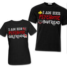 T-shirt coppia lui lei Psychotic girl/boyfriend, Harley Quinn Joker inspired