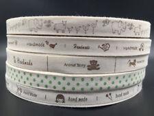 5-100Y Printed Cotton Ribbon animal 15mm Handmade Home DIY Sewing Craft