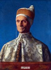 Giovanni Bellini, Portrait of Doge Leonardo Loredan, Museum Canvas Print