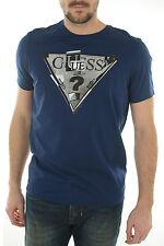 Tee shirt Guess Homme manches courtes M44I18 Bleu marine