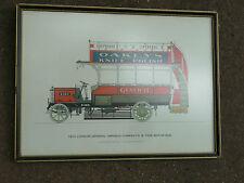 Vintage Framed Print 1910 LONDON GENERAL OMNIBUS COMPANY'S 'B' TYPE MOTOR BUS