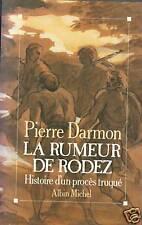 "Livre Roman "" La Rumeur de Rodez "" Pierre Darmon "" ( Book ) ( No357 )"