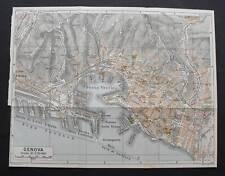 Antica Stampa=Topografica=GENOVA =Scala1:20000 -1949c.