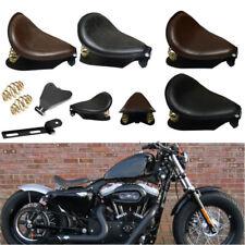 Leather Solo Seat Spring Bracket Baseplate For Custom Harley Sportster Bobber