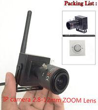 Mini Wifi Wireless IP Camera 2.8-12mm ZOOM Lens P2P ONVIF Network 1.0MP 720P New