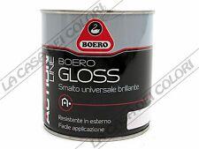 BOERO GLOSS - TINTE CARTELLA - 500 ml - SMALTO UNIVERSALE BRILLANTE AL SOLVENTE