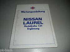 Werkstatthandbuch Wartungsanleitung Nissan Laurel C31 Ergänzung Stand 03/1983