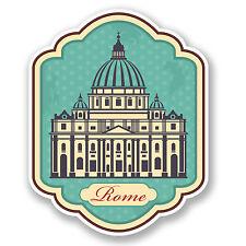 2 x ROMA RUSTIC Adesivo Auto Moto iPad Laptop Decalcomania VIAGGI BAGAGLIO ITALIA # 4208