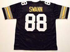 UNSIGNED CUSTOM Sewn Stitched Lynn Swann Black Jersey - M, L, XL, 2XL