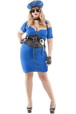 Sexy Starline Cuff Me Cop Plus Size Blue Police Dress Costume S7111