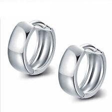 Kleine Klapp Creolen 8 - 12  mm echt Sterling Silber 925 Damen Ohrringe Kreolen