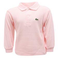 4285R polo bimba LACOSTE FLAMANT manica lunga rosa long sleeve t-shirt kids