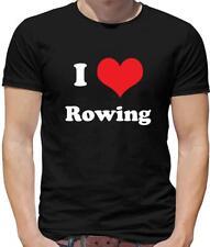 I Love Rowing Mens T-Shirt - Row - Maching - Sport - Canoe - Kayak - Race - Crew