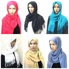 mujer bufanda pañuelo Calidad Superior Mantón khimar Hijab Musulmán Islam Sari